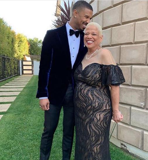 michael b. jordan y su mamá