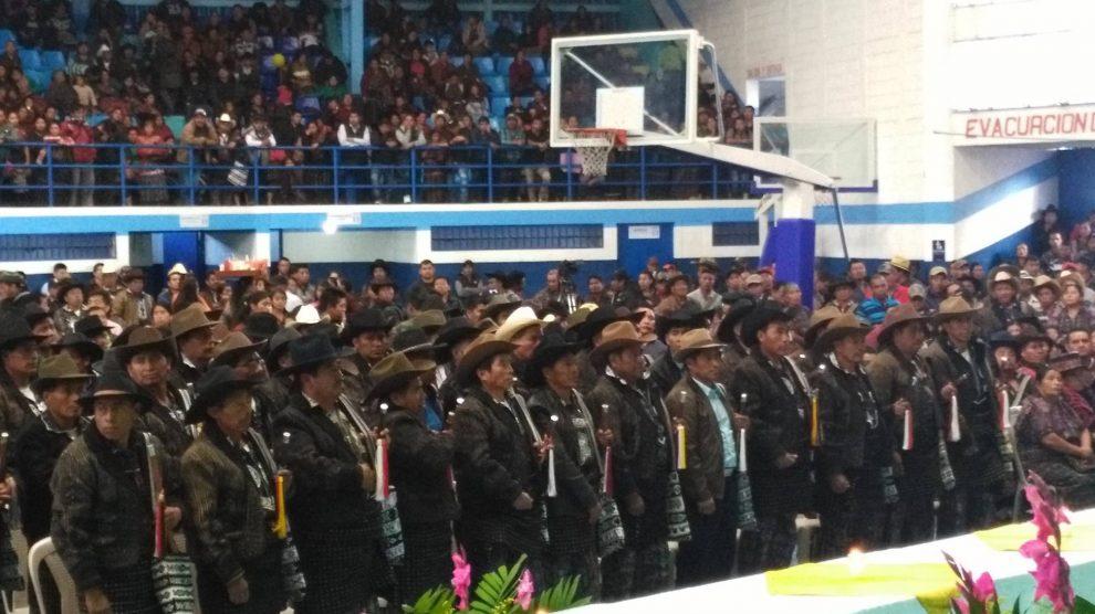 Integrantes de la Municipalidad Indígena de Sololá