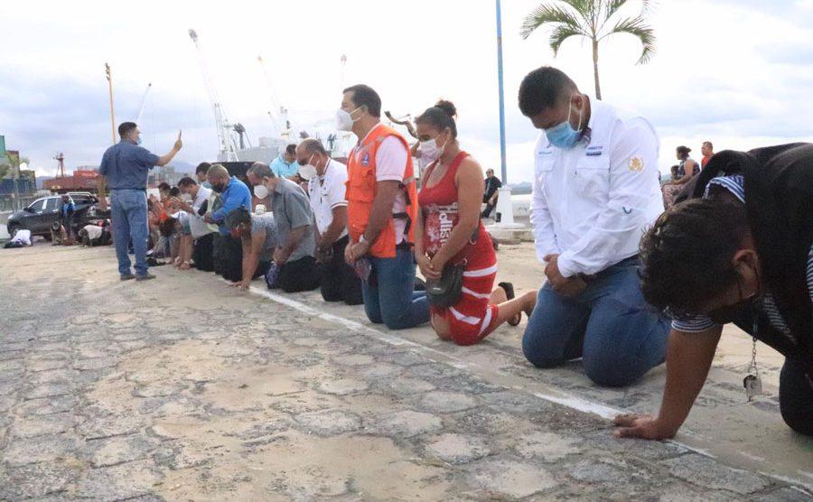 Oran en el malecón de Puerto Barrios