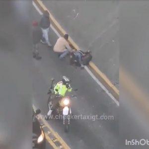 Accidente de tránsito en la zona 3 de la capital.