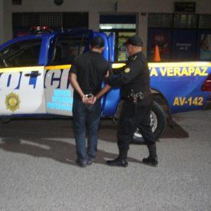 PNC captura a Fortino Cuz Morán en Alta Verapaz.