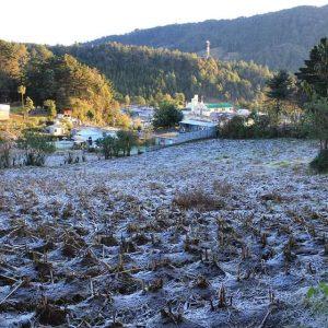 San Lorenzo, en San Marcos, amanece con escarcha por las bajas temperaturas. Daños en los cultivos.