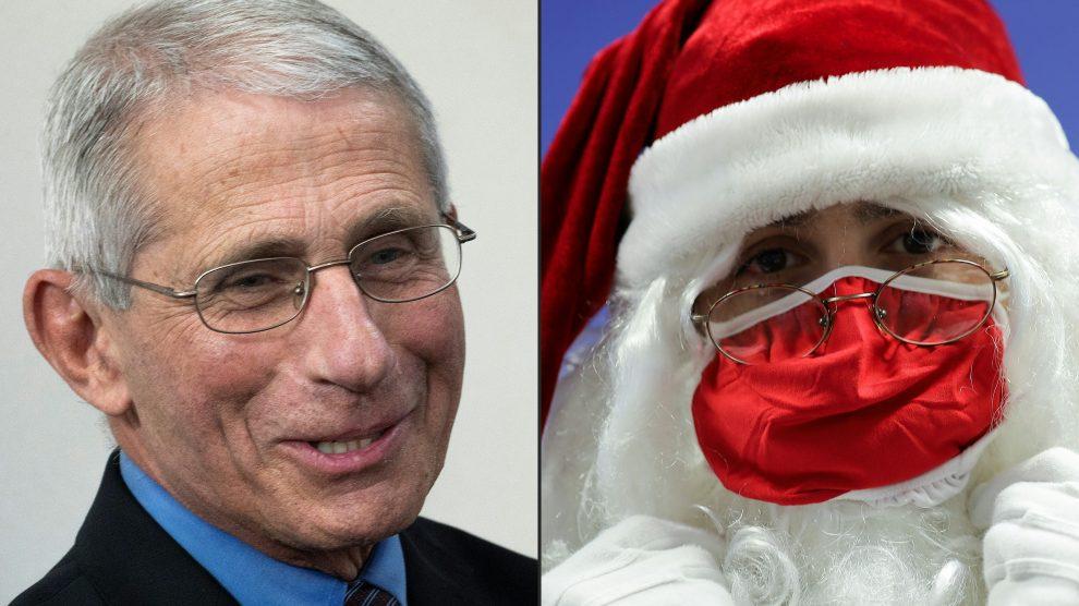 Santa Claus vacunado contra Covid-19