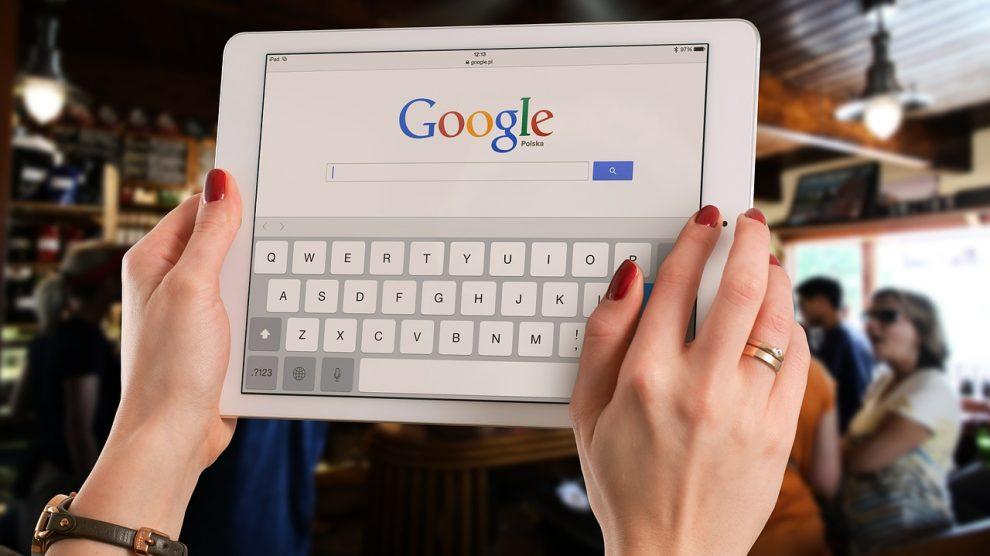 Google en una tablet