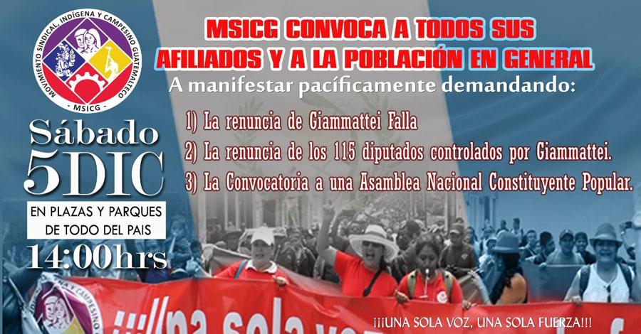 Manifestación de MSICG