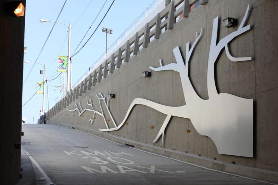 "Mural ""Rizoma"" del paso a desnivel Santa Elisa"