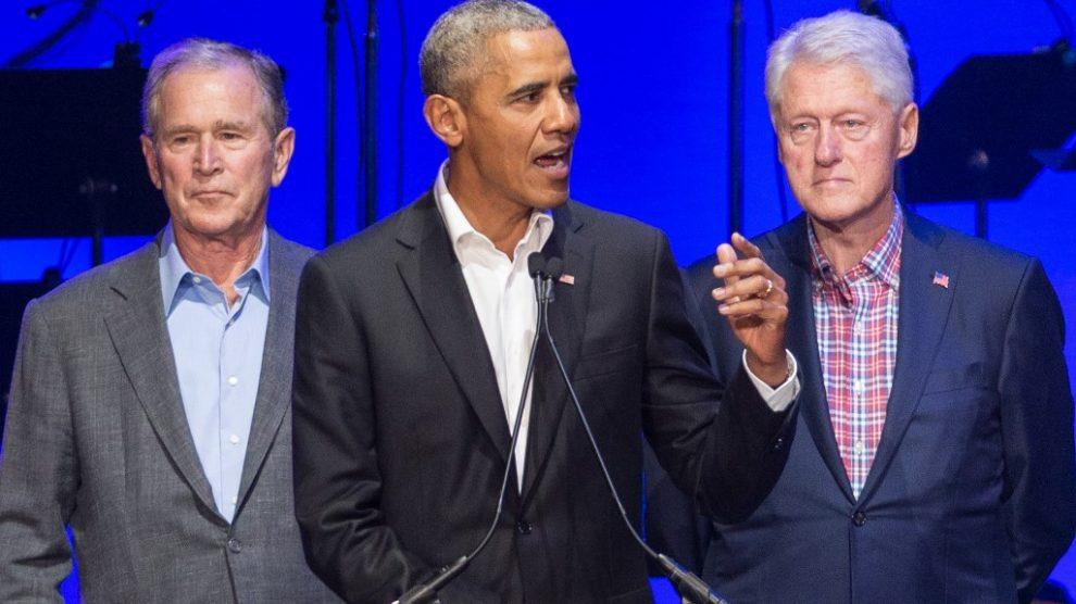 Barack Obama, George W. Bush y Bill Clinton