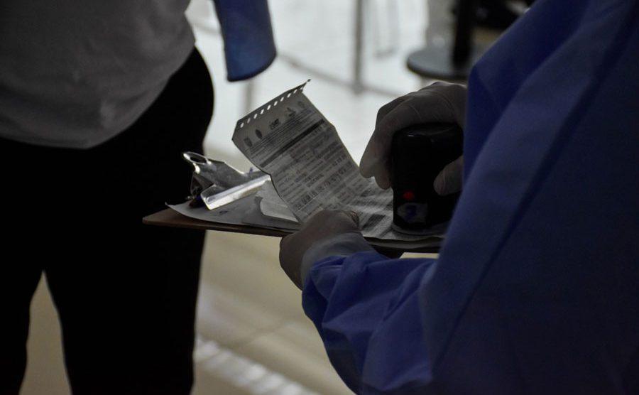 Prueba PCR en el Aeropuerto La Aurora