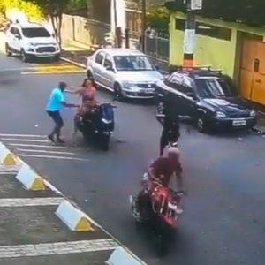 Motoladrón deja atrás a su cómplice tras asalto frustrado en Brasil