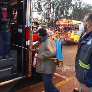 Protocolo de bioseguridad en buses extraurbanos.