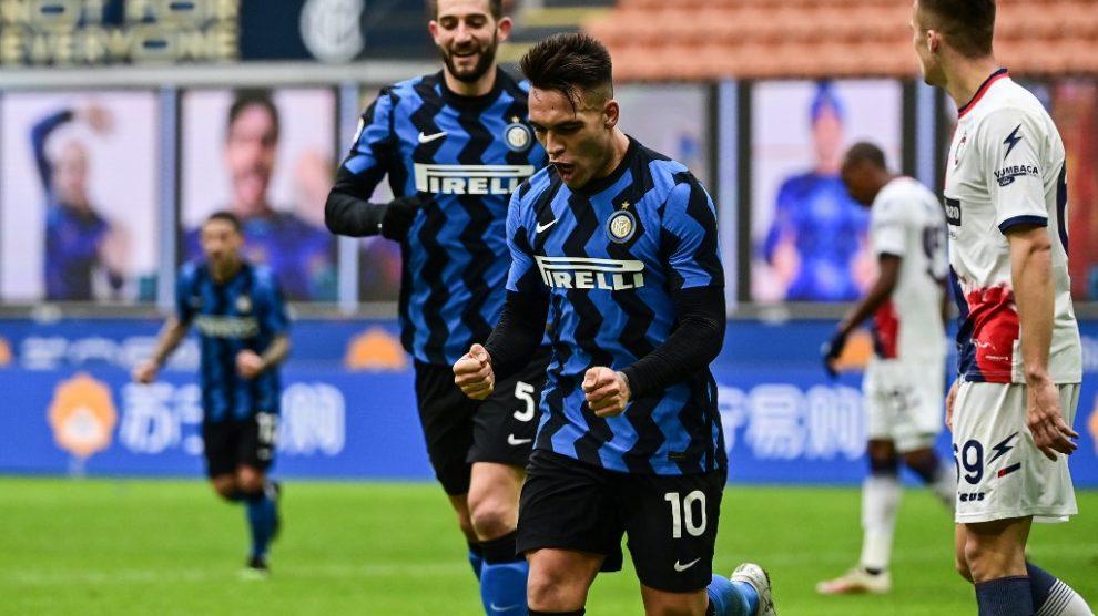 Lautaro Martínez hace tres goles en la victoria del Inter