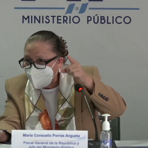 La fiscal general, María Consuelo Porras Argueta, ordenó a la FECI accionar contra el Tribunal de Honor del CANG.