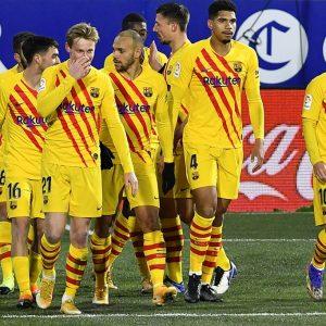 Barcelona vence por la mínima al Huesca