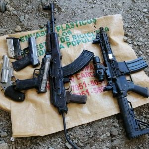Armas decomisadas en Alta Verapaz