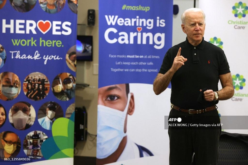 Joe Biden recibe segunda dosis de vacuna contra el Covid-19
