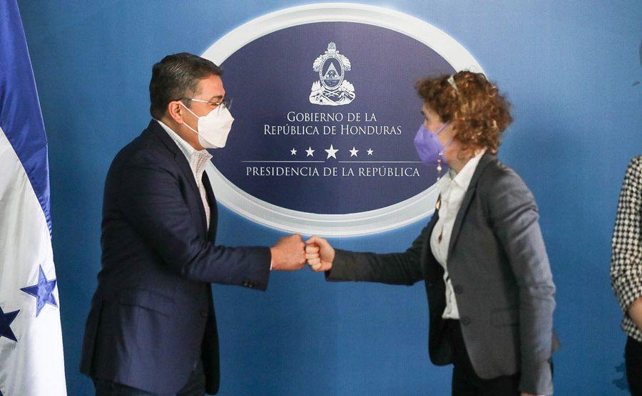 Juan Orlando Hernández en la inauguración de la UNODC en Honduras