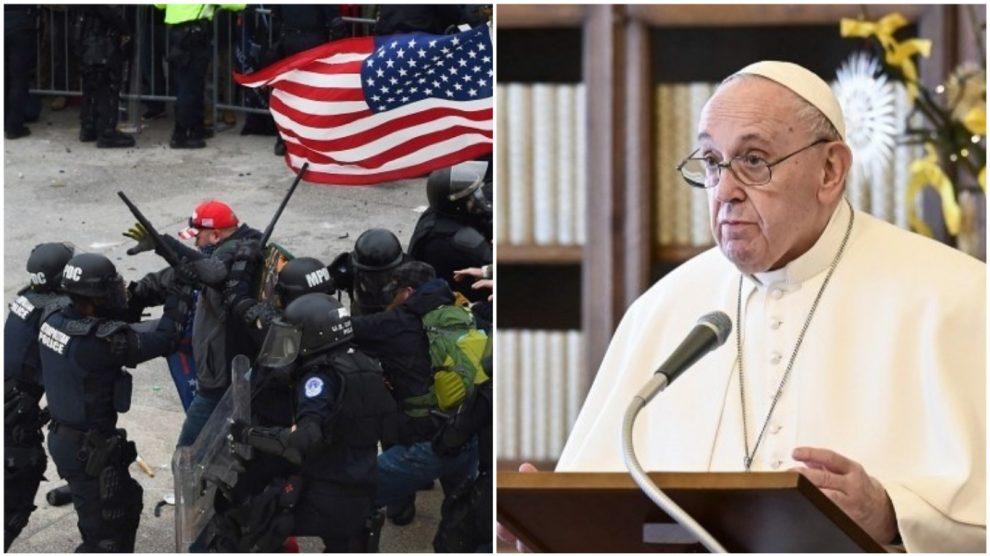 Papa Francisco envía mensaje a Estados Unidos tras violento asalto al Capitolio