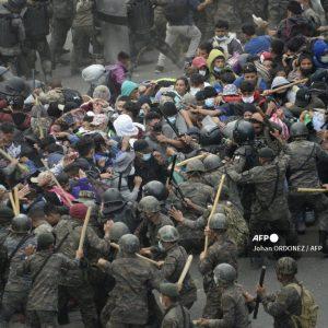 Caravana migrante en Chiquimula