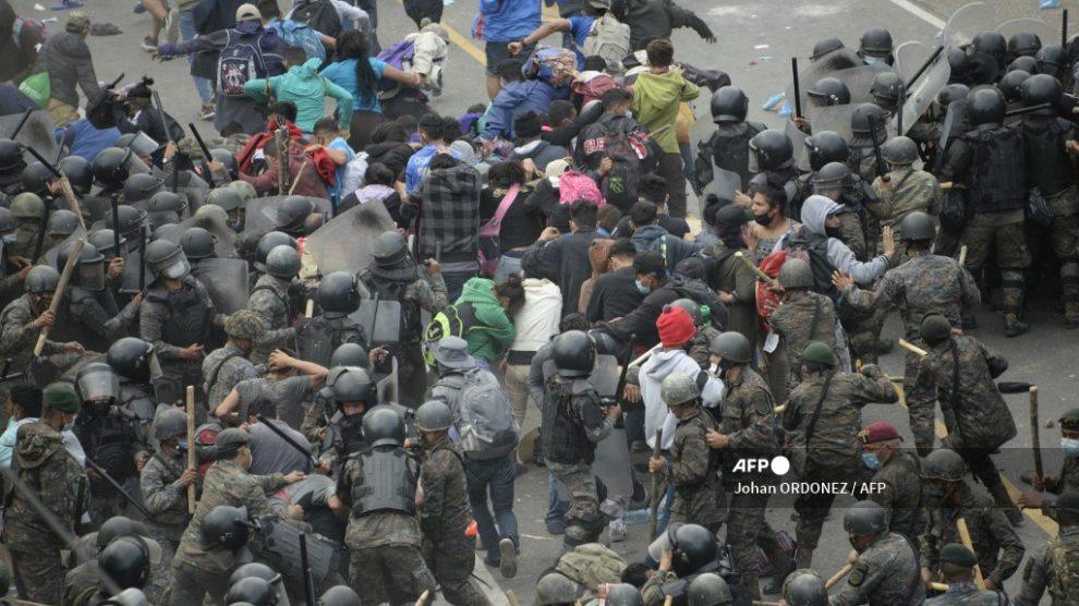 Caravana migrante en Guatemala