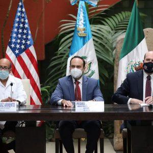 Romeo Ruiz, Pedro Brolo y William Popp acordaron prohibir las caravanas migrantes por la pandemia