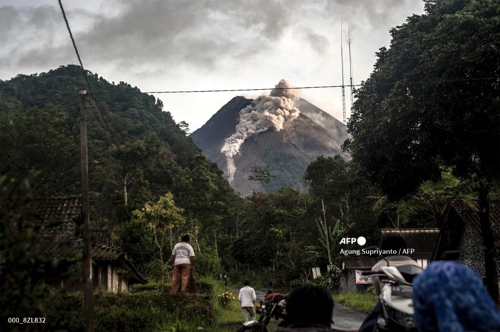Volcán Merapi, en Indonesia