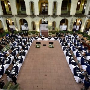 El presidente, Alejandro Giammattei, dirigió la primera reunión del Conadur de este año.