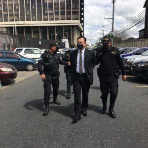 Luis Fernando Ruiz, expresidente del CANG, capturado por anomalías en la elección de candidatos a magistrados judiciales.