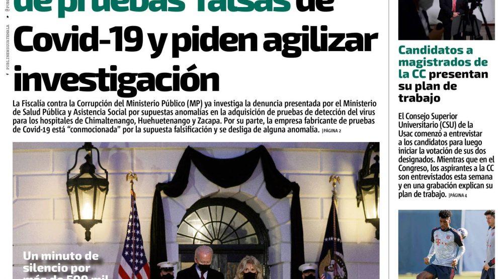 Edición impresa del 23 de febrero de 2021