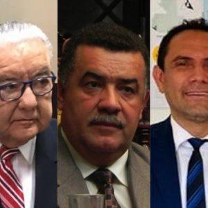 Rectores de la Usac: Eduardo Meyer, Estuardo Gálvez y Murphy Paiz.