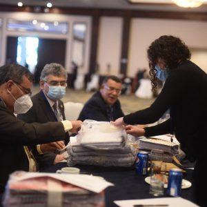 El Consejo Superior Universitario (CSJ) de la Universidad de San Carlos (Usac) evalúa los expedientes de los aspirantes a la Corte de Constitucionalidad (CC).