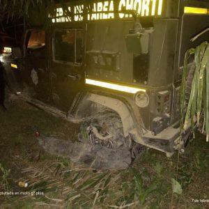 Patrullas de PNC destruidas en San Luis Petén por pobladores