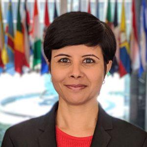 Namita Biggins, vocera en español del Departamento de Estado de los Estados Unidos