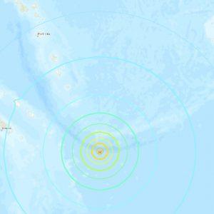 Sismo en el sur del Pacífico, febrero 2021