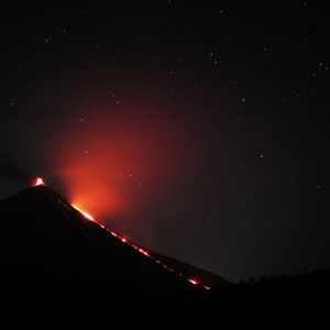 volcán pacaya flujo lava