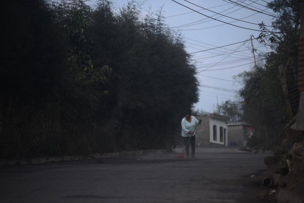 caída ceniza volcán pacaya 2021
