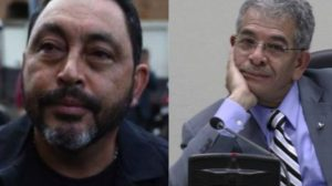 Mauricio López Bonilla, exministro de Gobernación; y Miguel Ángel Gálvez, juez de Mayor Riesgo B.