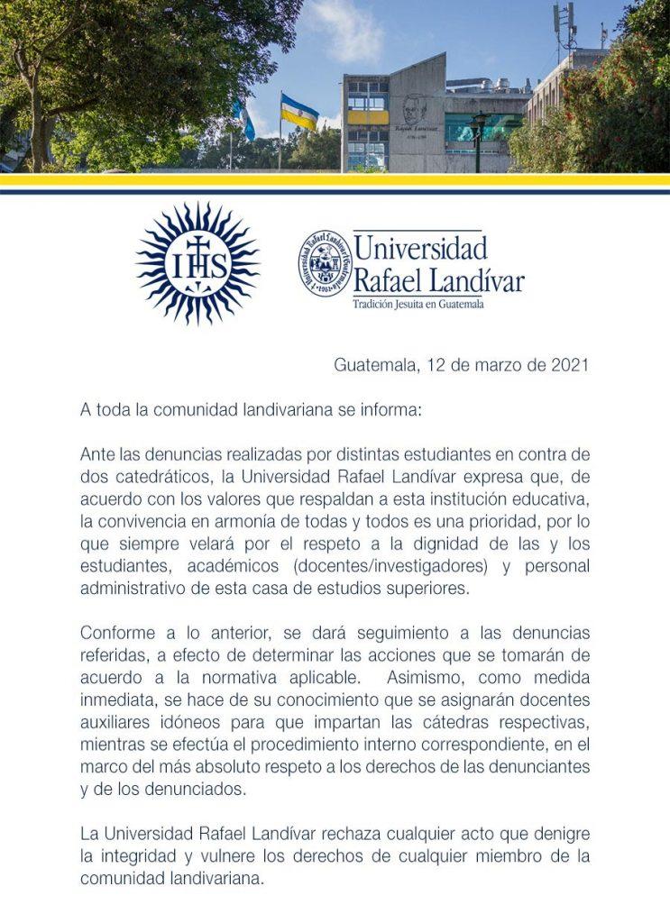 URL Universidad Rafael Landívar