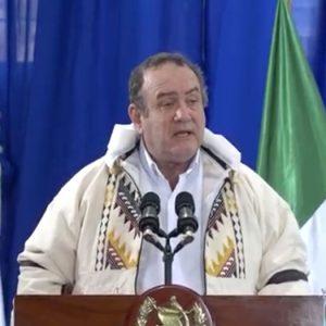 Alejandro Giammattei en San Antonio Ilotenango