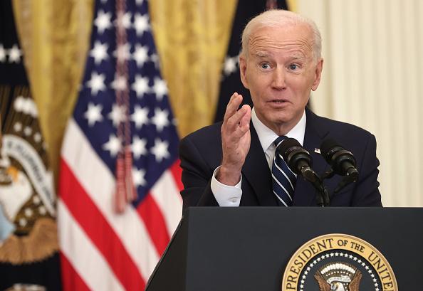 Joe Biden en conferencia de prensa
