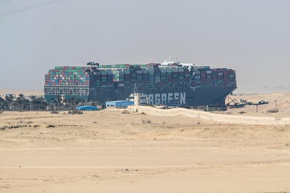 Barco Ever Given, encallado en el Canal de Suez