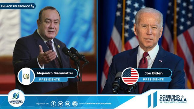Alejandro Giammattei y Joe Biden