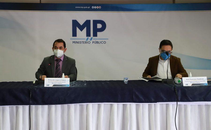 "MP presenta caso ""Autoridades al servicio del crimen"""