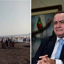 """Presidente Giammattei: """"Si no cambian las condiciones, habrá acceso a las playas"""""""