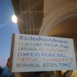 Piden justicia para Luis Solórzano frente a la muni de Antigua Guatemala