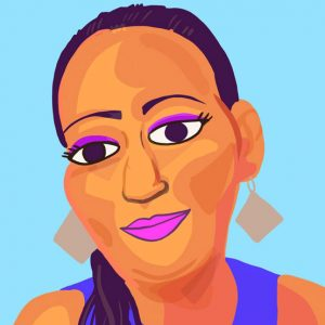 Caricatura de Victoria Esperanza Salazar, salvadoreña que murió a manos de policías en México
