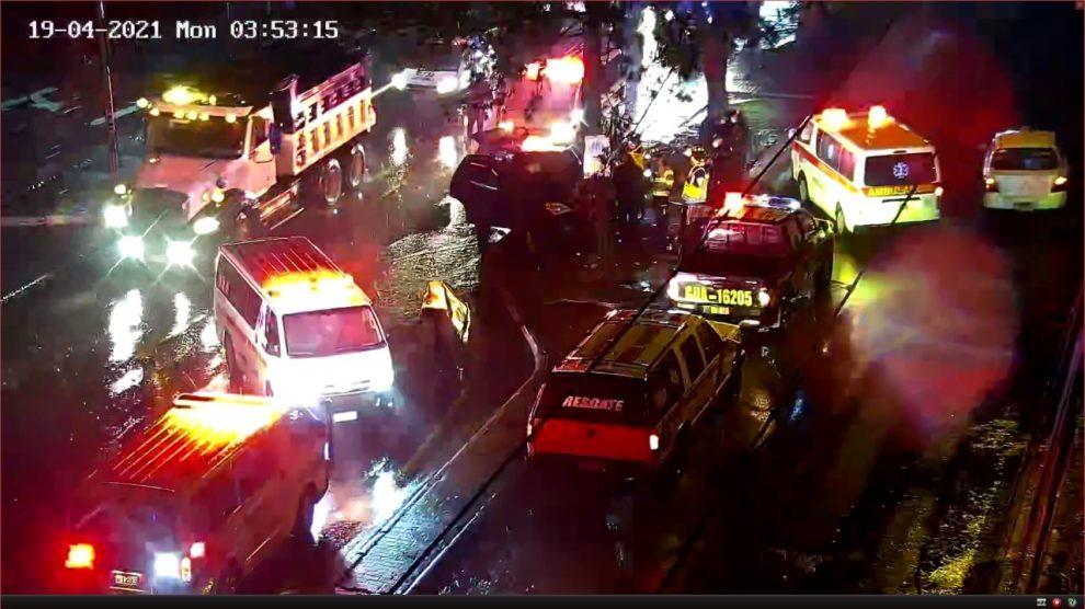 Fallece una mujer y otros cuatro resultan heridos en un accidente de tránsito