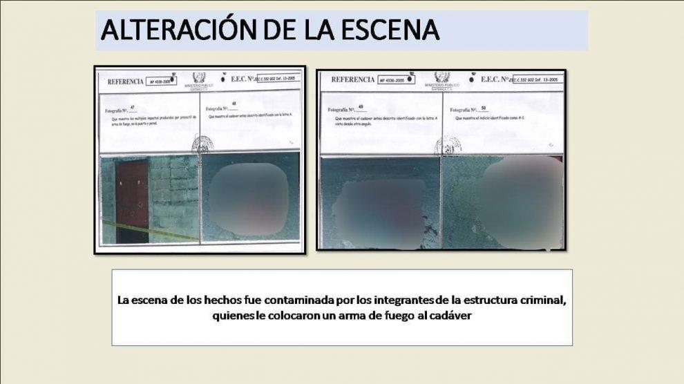 Evidencias de la ejecución extrajudicial del reo Hugo Humberto Ruiz Fuentes.