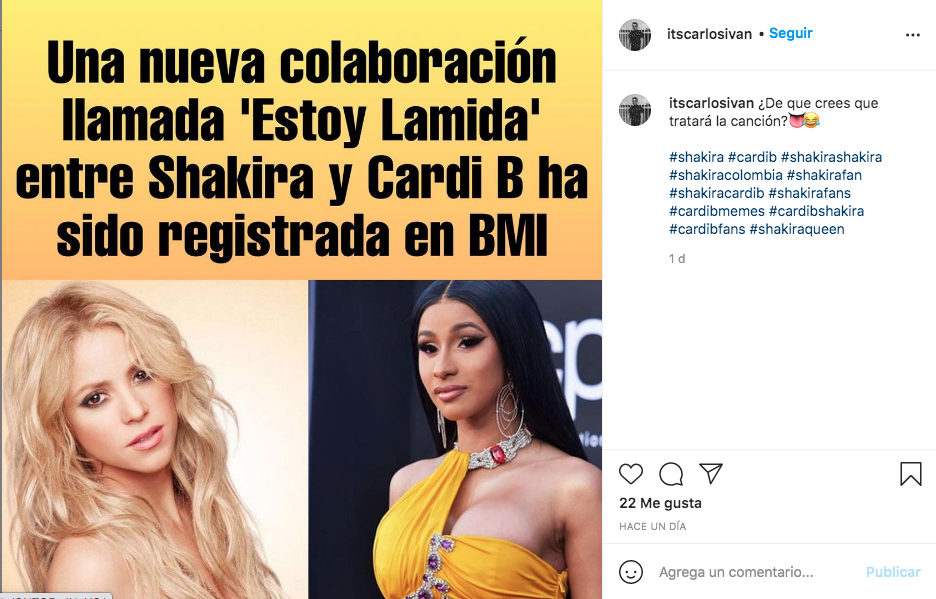 Shakira Cardi B