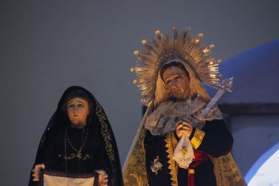 Velación del Viernes Santo en la cabecera de Totonicapán.