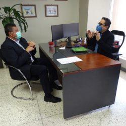 Guillermo Castillo y Juan Francisco Sandoval sostienen reunión